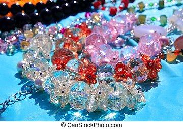 crystal transarent jewellery macro detail focus on...