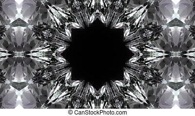 Crystalline background.