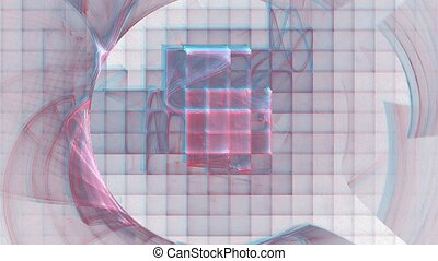 Crystallization. With alpha ch. - HD abstract fractal art...