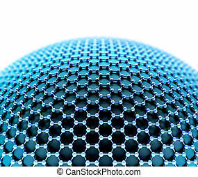 Crystallized Carbon Hexagonal System - Several molecules...