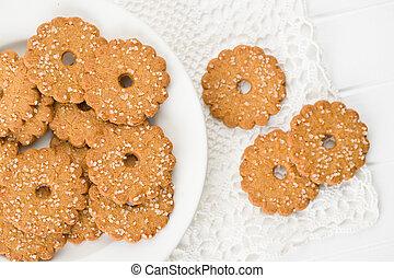 crystals., biscotti, natale, zucchero