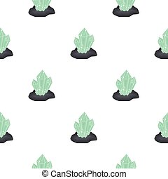 Crystals icon in cartoon style isolated on white background. Mine pattern stock vector illustration.