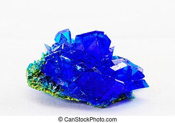 Crystals of blue vitriol - Copper sulfate - macro photo...