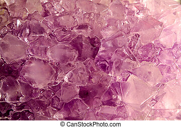 Crystals - The jagged and glittering surface of crystals.