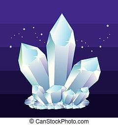 crystals illustration clip-art image