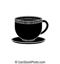 csésze, finom, kávécserje