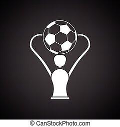 csésze, futball, ikon