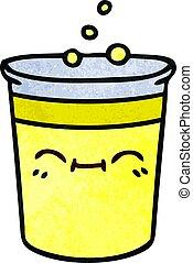 csésze, quirky, kéz, karikatúra, húzott, limonádé