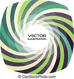 csíkos keret, noha, kerek, alakú, állás, helyett, text., vektor, örvény, bac