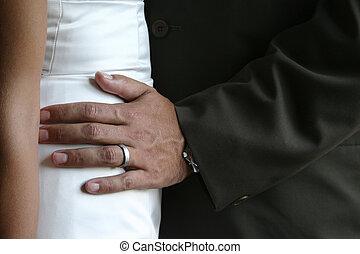 csípő, kéz