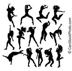 csípő, körvonal, komló, tánc