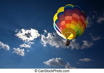 csípős, balloon, levegő
