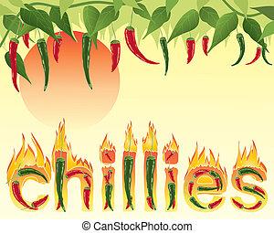 csípős, chillies
