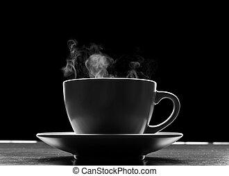 csípős, fekete, folyékony, csésze