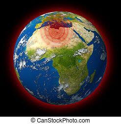 csípős, globális, folt, líbia, konfliktus