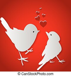 csókolózás, madarak, Nap,  valentine's