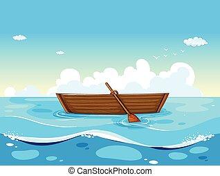 csónakázik, óceán