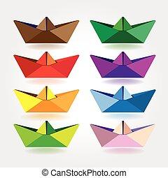 csónakázik, dolgozat, színezett