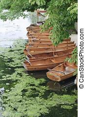 csónakázik, folyó, uk