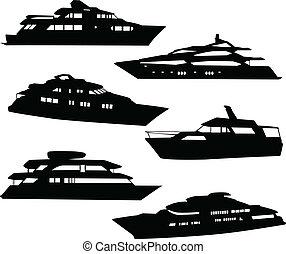 csónakázik, gyűjtés