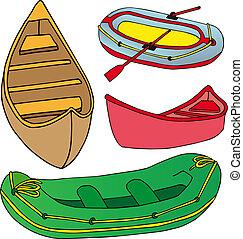 csónakázik, hajó, gyűjtés