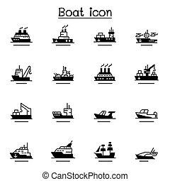 csónakázik, hajó, ikon, állhatatos