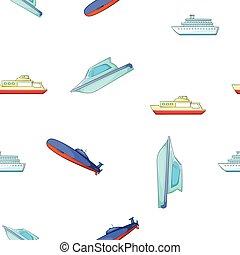 csónakázik, mód, hajó, karikatúra, motívum