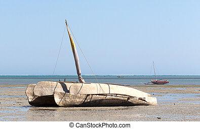 csónakázik, tengerpart, halászat