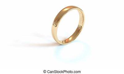 csöpögött, jegygyűrű, izolál, képben látható, a, white.,...
