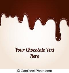 csöpögő, csokoládé