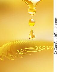 csöpögő, olaj