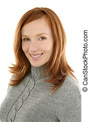 csörgőréce, gyönyörű, mosolyog woman, portré