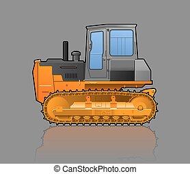csúszómászó, traktor