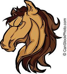 csődör, amerikai félvad ló, kabala, grafikus