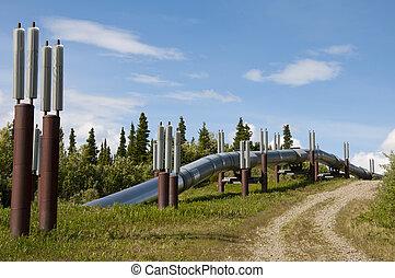 csővezeték, föld, kilépő