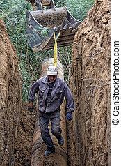 csővezeték, lefektetés