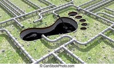 csővezeték, olaj, lábnyom, klíma, pipa, lábfej, 4k, nyomtat, indigó, egyenes, cserél