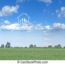 család, épület