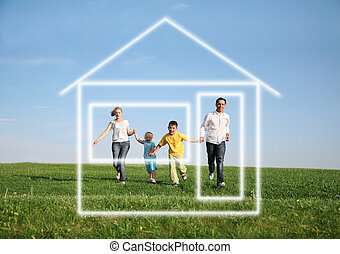 család 4, futás, to vágyálom, épület