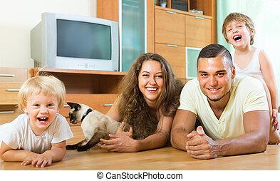 család 4, játék, noha, cica