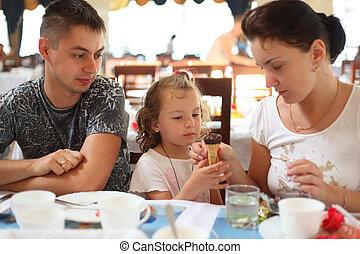 család, alatt, kávéház