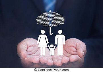 család, biztosítás