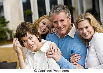 család, együtt