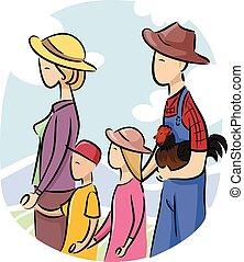 család, farmer