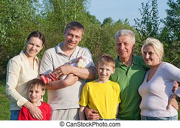 család, közül, 7 emberek