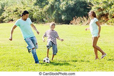 család, közül, három, noha, labda