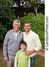 család, külső külső fényképezőgép