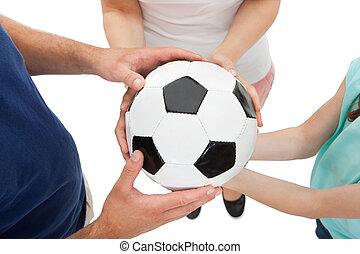 család, kitart futball labda