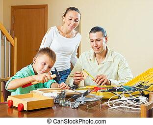 család, mintakészítés, valami, noha, műszerek