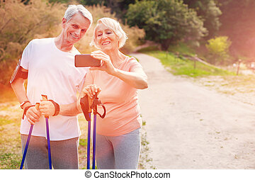 család, mozgatható, pozitív, öregedő, telefon, birtok